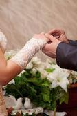 свадебные кольца — Стоковое фото