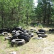 Stock Photo: Automobile tyres
