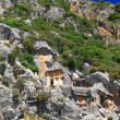 Ancient lycian tombs in Myra, Turkey — Stock Photo #11058494