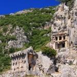 Ancient lycian tombs in Myra, Turkey — Stock Photo #11058500