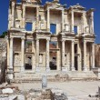 Facade of ancient Celsius Library in Ephesus, Turkey — 图库照片