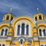 Big Vladimir Cathedral in Kiev in Ukraine in summer — Stock Photo #11165676