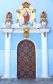 Old iron door of Mikhalovskiy cathedral in Kiev, Ukraine — Stock Photo