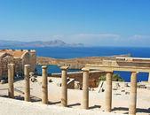 Ancient temple ruins in Rhodos, Greece — Stock Photo