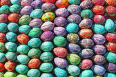 The fragment of the sphere sculpture of 3000 paint Easter eggs — Stock Photo