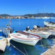 Boats and yachts, near Kekova island, Turkey — Stock Photo