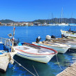 Boats and yachts, near Kekova island, Turkey - Stock Photo