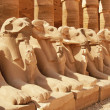 Ancient statues in the Karnak Temple, Luxor - Stock Photo