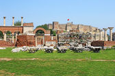Ruins of st. Johns Basilica and the Roman Fortress at Ayasuluk H — Stock Photo