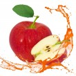 Stock Photo: Apple splash
