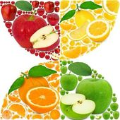 Fruit background — Stock Photo
