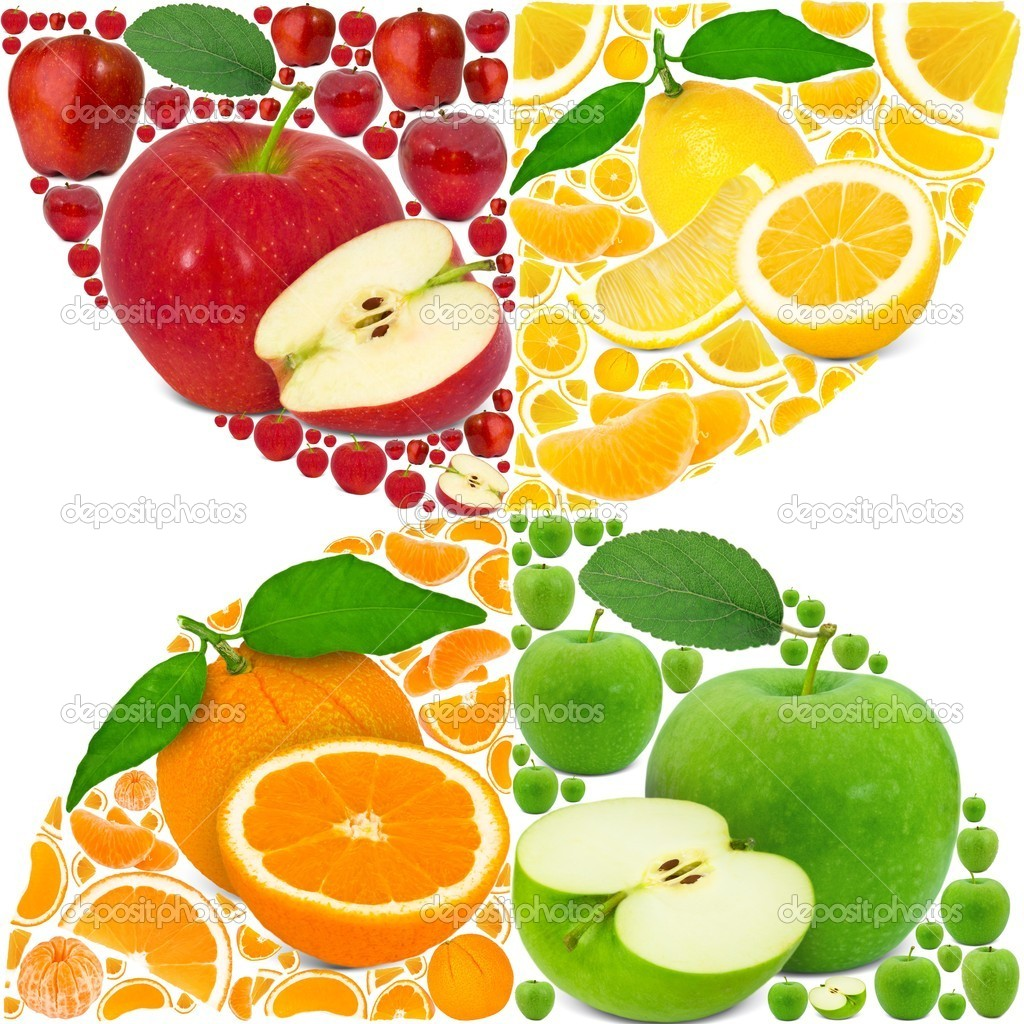 Colorful fruit background — Stock Photo #11134483