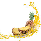Pineapple splash — Stock Photo