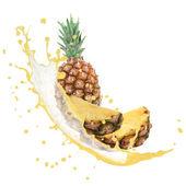 Fruits avec splash — Photo