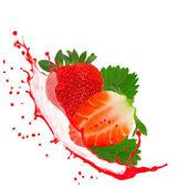Obst mit splash — Stockfoto