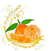 Fruit with splash — Stock Photo