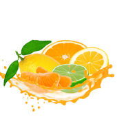Fruit with splash — Stock Photo