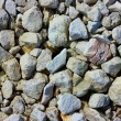Background texture with round pebble stones — Stock Photo