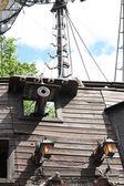 Seite des ein piraten-schoner — Stockfoto