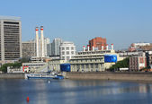 Embankment of Moscow River — Stock fotografie