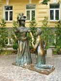 Genre skulptur på gatan — Stockfoto