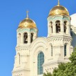 Stock Photo: Domes of the Naval Cathedral of St. Nicholas