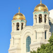 Domes of the Naval Cathedral of St. Nicholas — Stock Photo