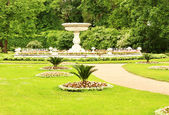 Flower beds of the old park — Stock Photo