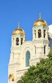 Cúpulas de la catedral naval de san nicolás — Foto de Stock