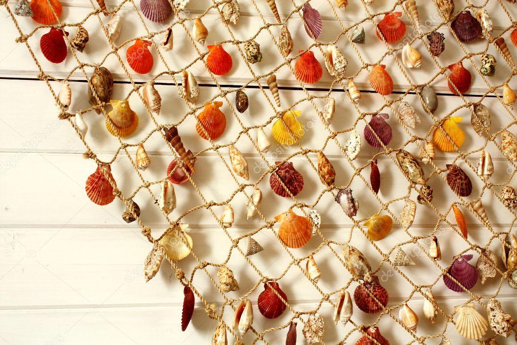 Сеть декоративная с ракушками