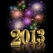 New Year 2013 fireworks — Stock Photo #10768083
