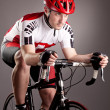 Cyclist on a bicycle — Stock Photo