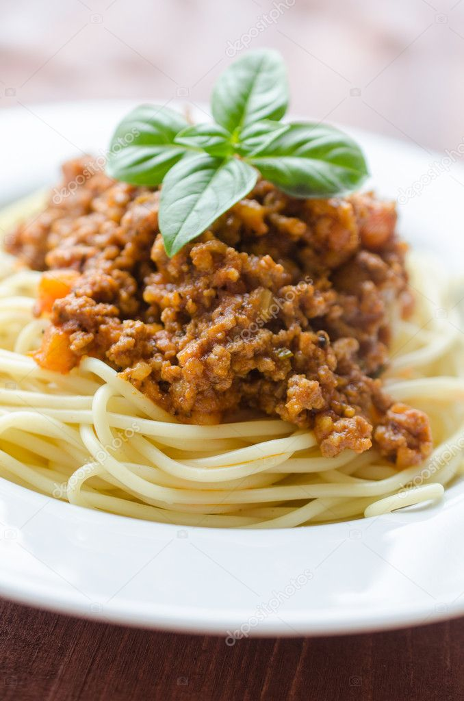 Italian spaghetti dinner, spaghetti bolognese  Stock Photo #10748233