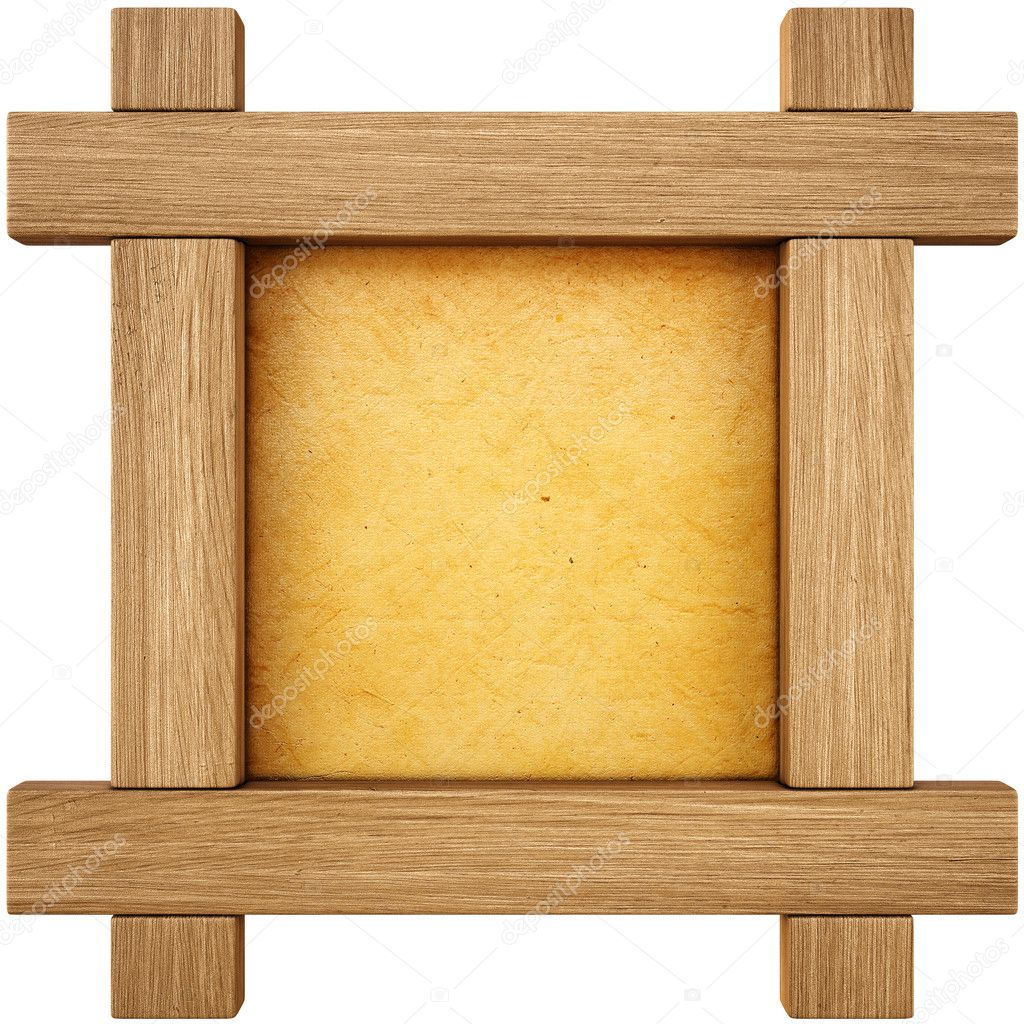 Wooden frame. isolated on white. — Stock Photo #11790071