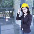 Female construction engineer — Stock Photo