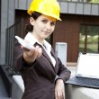 Female construction engineer — Stock Photo #11836017