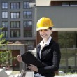 Female construction engineer — Stock Photo