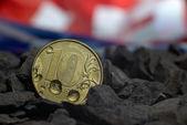металлические монеты — Стоковое фото