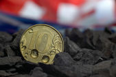 Metal madeni para — Stok fotoğraf