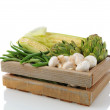 Produce Crate with Vegetavles — Stock Photo