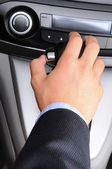 Man with Hand on Gear Shifter — Stock Photo