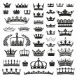 CROWNS collection - Stock Vector