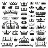 CROWNS collection — Vettoriale Stock