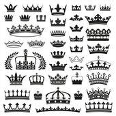 Colección de coronas — Vector de stock