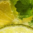 Mojito cocktail macro shot - 图库照片