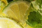 Mojito cocktail macro schot — Stockfoto
