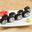 Tuna sushi roll — Stock Photo