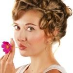 Beauty woman closeup portrait — Stock Photo