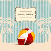 Vintage beach background — Vector de stock