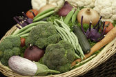 Basket of vegetables — Stock Photo